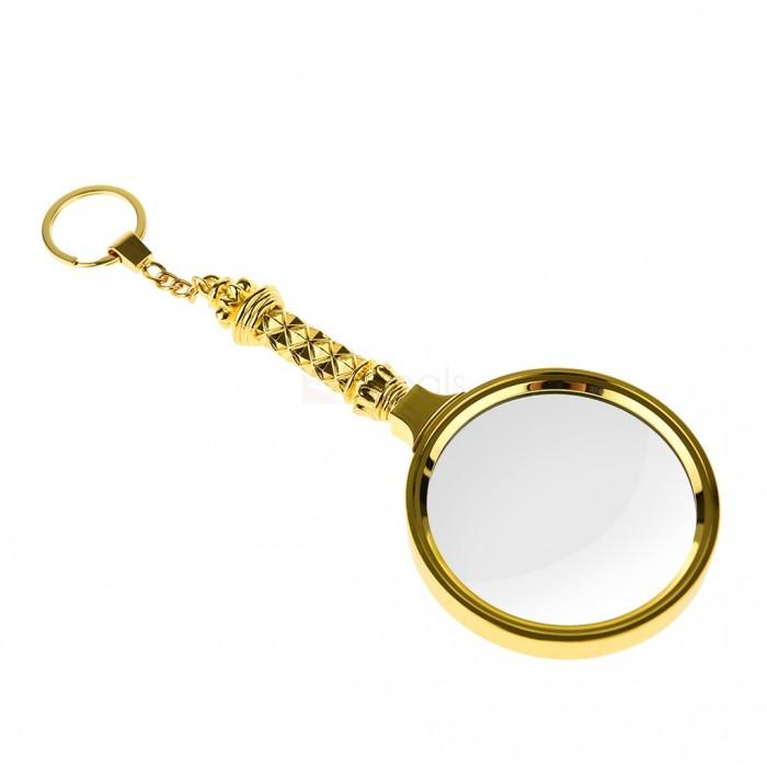 5x90mm Tüm Metal Altın renkli, Hediye Büyüteç,Optik Lensler ile Çinko Alaşım Metal Çerçeve
