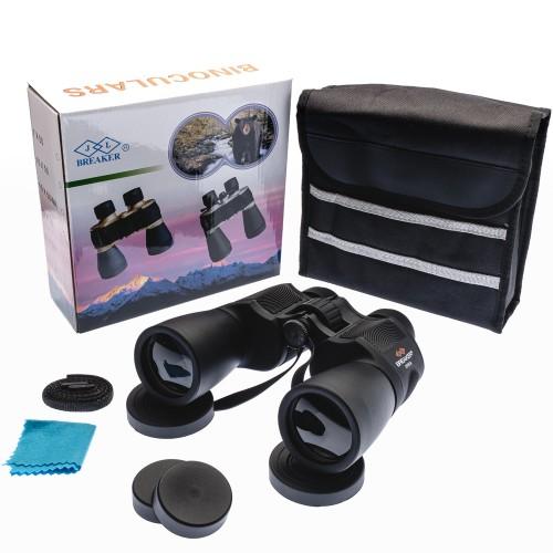Breaker 7X50 WD2 Çift Göz Ayarlı Profesyonel El Dürbünü – 1000m/56m – Siyah