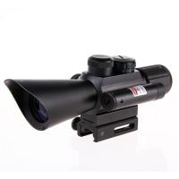 Nikula 4X30 Tüfek Dürbünü Çift Işıklı Lazerli M7