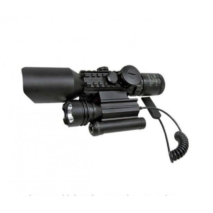 3-10X42 Nikula Zoomlu Av Tüfeği Dürbünü Tüfek Lazeri Zenon Fenerli M9