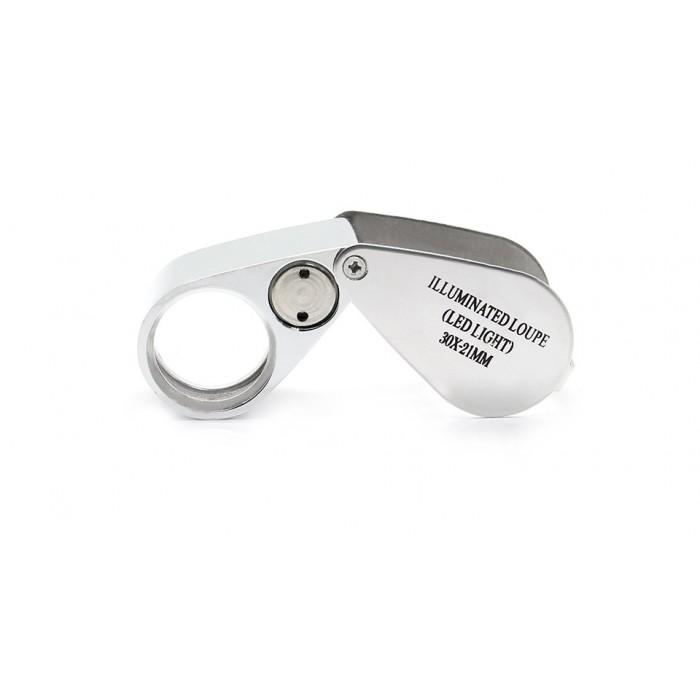Mücevher,Kuyumcu,Tekstilciler,Para kontrol, için özel kutulu metal ışıklı Lup 30X21