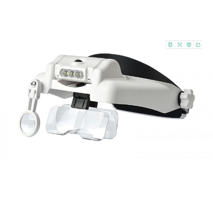 3 Led Lambalı Şapka Tıp Büyüteç 3Lensli- MG81000S