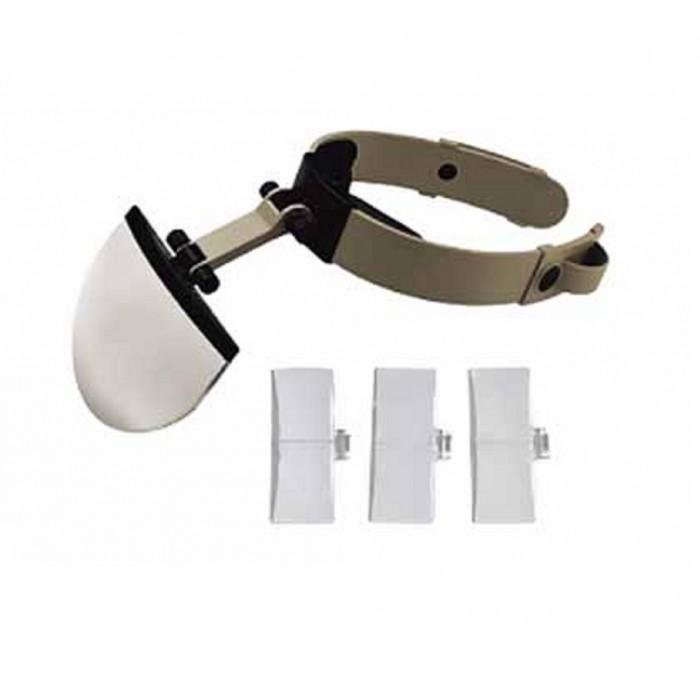 Şapka Tip Kask Büyüteç, 4 Farklı Büyütme Lensli Büyüteç
