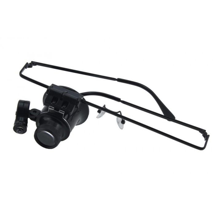 Gözlük model 20x16mm Optik lens LED ışık monoküler Büyüteç