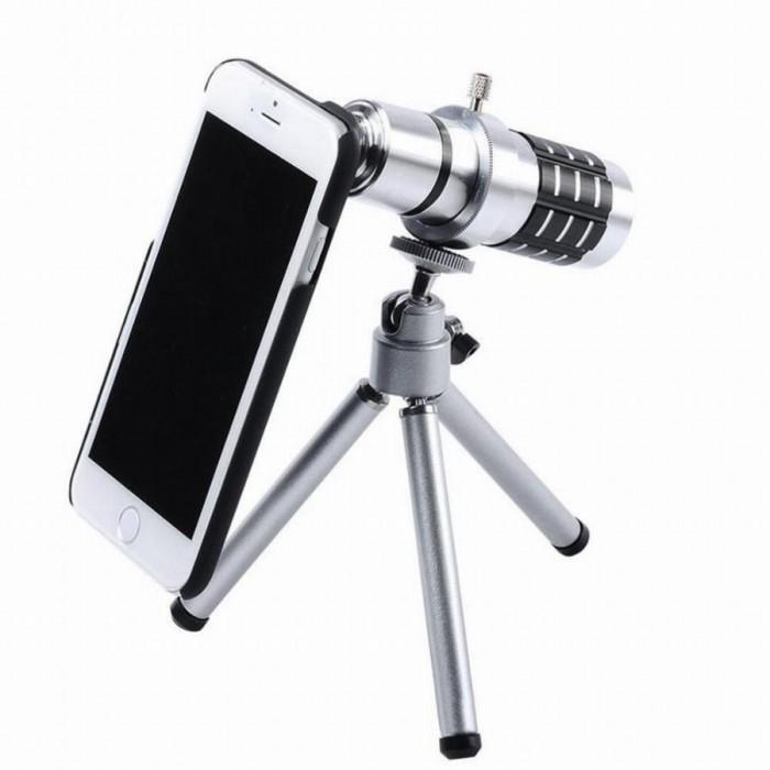 İphone5,5s,İphone4.4s için Alüminyum 14X Optik Zoom Yakından Görüntü çekme Dürbün