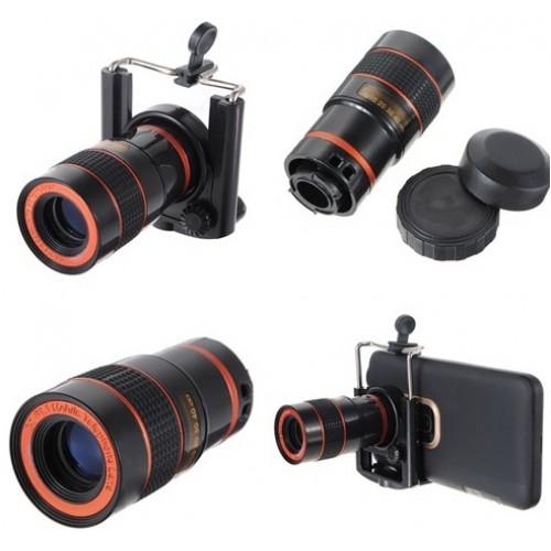 8X Zoom Optik Teleskobu,Geniş Açı Lens iPhone Için yakından kamera çekme Dürbün